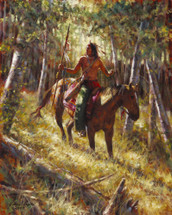 Among the Forest Spirits - Crow Giclee - by James Ayers