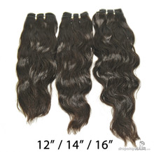 "3pc Brazilian Virgin Weft Bundles 12"" / 14"" / 16"" 110g"