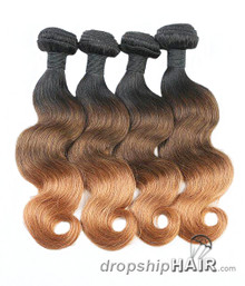 1 - Ombre 1BT-4T30 Hair Weft in 3-Tone Color