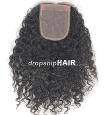 "3.5"" x 4"" Brazilian Silk Lace Closure (Virgin)"