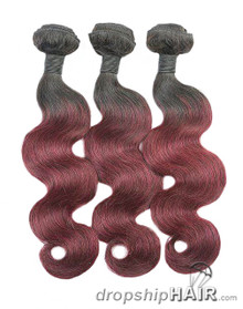 SAMPLE A. Ombre 1BT99J / 1B Root Hair Weft 2-Tone Color