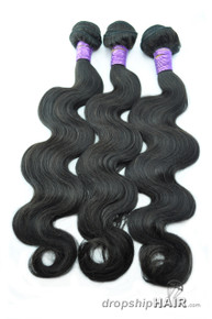 "9A  - 20"" - 100g Virgin Peruvian Hair Weft Bundle / Stack"