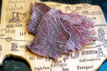 Peppered Mesquite Smoked Beef Jerky -LB