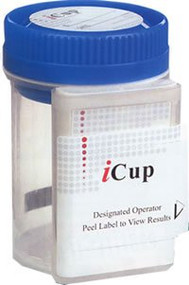 Drugs of Abuse Test iCup 10-Drug Panel AMP, BAR, BZO, COC, mAMP/MET, MDMA, OPI, OXY, PPX, THC Urine Sample CLIA Moderate Complexity 25 Tests I-DOA-1107-051 Box/25