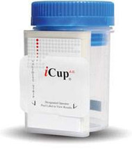 Drugs of Abuse Test iCup A.D. 6-Drug Panel with Adulterants AMP, COC, mAMP/MET, OPI, PCP, THC, (OX, pH, SG) Urine Sample CLIA Moderate Complexity 25 Tests I-DUA-167-012 Box/25