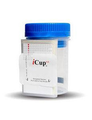 Drugs of Abuse Test iCup A.D. 9-Drug Panel AMP, BAR, BZO, COC, mAMP/MET, MTD, OPI, PCP, THC Urine Sample CLIA Moderate Complexity 25 Tests I-DUD-197-014 Box/25