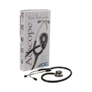 Classic Stethoscope Adscope 603 Black 1-Tube 22 Inch Tube Double Sided Chestpiece 603BK Each/1