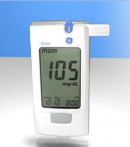 Blood Glucose Meter GE100 5 Seconds Stores Up To 500 Results, 1-, 7-, 14-, 30-, and 90-Day Averaging Automatic Coding 99GM555GR1 Each/1