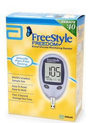 Blood Glucose Meter FreeStyle Freedom Lite 5 Seconds Stores Up To 400 Results No Coding 1839562 Each/1
