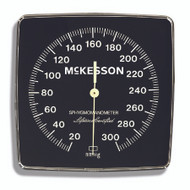 Blood Pressure Unit Gauge McKesson LUMEON Black Body, Black Face, 6 Inch Luminescent Dial with White Printing Wall (01-750 Series) and Mobile (01-752 Series) Aneroid Sphygmomanometers 01-805GM Each/1