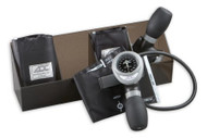 Aneroid Sphygmomanometer McKesson Brand Palm Style Hand Held 1-Tube Small Adult, Adult, Large Adult Arm 705GPK-BK Each/1