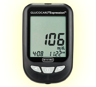 Blood Glucose Meter Kit Glucocard Expresson 6 Seconds Stores Up To 300 Results, 7-, 14-, and 30-Day Averaging Automatic Coding 571100 Each/1
