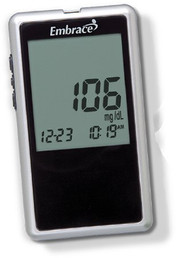 Blood Glucose Meter Embrace 6 Seconds Stores 7-, 21-, and 30-Day Averaging No Coding APX01AB0300 Each/1