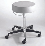 Exam Stool entrust Performance Backless Pneumatic Height Adjustment 5 Casters Black 81-11001US393 Each/1