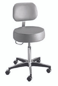 Exam Stool entrust Performance Backrest Pneumatic Height Adjustment 5 Casters Black 81-11001BUS393 Each/1