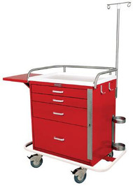 Emergency Cart Steel 38.5 X 22 X 38 Inch 4-Drawer Specify Color When Ordering 6301 Each/1