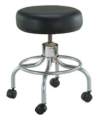 Exam Stool Backless Spin Lift Screw Adjustment 4 Hooded Casters Black 13034 Case/1
