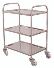Utility Cart Stainless Steel 16 X 26 X 35 Inch 3-Shelves L100S3 Each/1