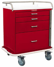 Emergency Cart Steel 38.25 X 22 X 32 Inch 4-Drawer Red 6300-RD Each/1