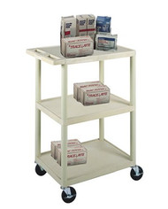 Utility Cart 43 Inch 3-Shelves Gray HE42-G Each/1
