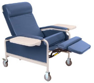 Convalescent Recliner Hunter Green Vinyl 5 Inch Heavy-Duty Steel Casters 5291-06 Each/1