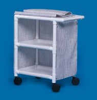 Utility Cart 31 X 37 X 20 Inch 2-Shelves White MPC-275 Each/1