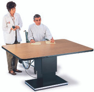 Work Table Powermatic 66 L X 48 W X 27 - 39 H Inch Natural Oak High Pressure Laminate Top / Steel Frame 4380 Each/1