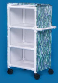 Utility Cart 31 X 51.75 X 20 Inch 3-Shelves Teal MPC375 Each/1