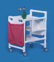 Emergency Cart PVC 20 X 27 X 34.5 Inch 2-Shelves EC500 Each/1