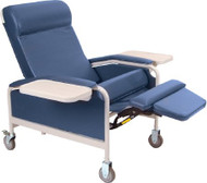 Convalescent Recliner Grey Vinyl 5 Inch Heavy-Duty Steel Caster 5291-07 Each/1