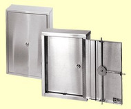 Narcotic Cabinet Wall Mount Stainless Steel 2-Shelves Triple Wafer Lock 181601 Each/1