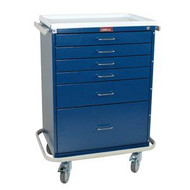 Treatment Cart Classic Line Steel 41.5 X 22 X 32 Inch 6-Drawer Teal 6450 Each/1