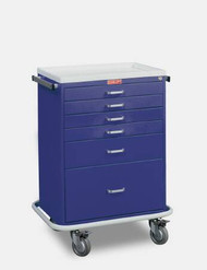 Treatment Cart Classic Line Steel 41.5 X 22 X 32 Inch 6-Drawer Navy Blue 6450 Each/1