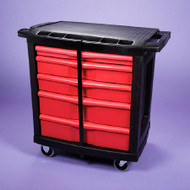 Utility Cart 32.625 X 19.937 X 33.5 Inch 5-Drawer Black / Red 17935 Each/1