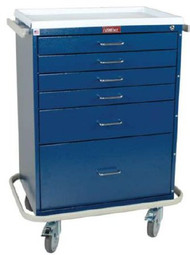 Treatment Cart Classic Line Steel 41.5 X 22 X 32 Inch 6-Drawer Light Blue 6450 Each/1