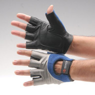 Impact Glove Impacto Half Finger Large Black / Blue / Gray Hand Specific Pair 95470 Each/1