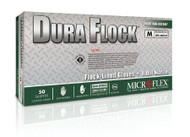 Flock Lined Glove Dura Flock Large Nitrile Green 10.6 Inch Beaded Cuff NonSterile DFK-608-L Case/500