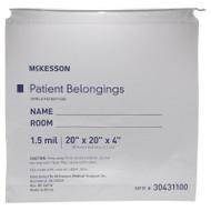 Patient Belongings Bag McKesson 4 X 20 X 20 Inch Polyethylene Clear 30431100 Case/250