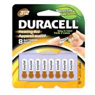 Duracell Zinc Air Battery 312 Cell 1.4V Disposable 8 Pack DA312B8ZM09 Pack/8