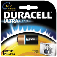 Duracell Ultra Lithium Battery 123A Cell 3V Disposable 1 Pack DL123ABPK Each/1