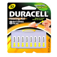 Duracell Zinc Air Battery 10 Cell 1.4V Disposable 8 Pack DA10B8ZM10 Case/288