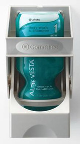 Aloe Vesta Skin Care Dispenser Gray / White Plastic Push Bar 1 Liter Wall Mount 122101 Each/1