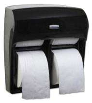 K-C PROFESSIONAL* MOD* Toilet Tissue Dispenser Black Smoke Plastic Manual Pull 4 Standard Rolls Wall Mount 44518 Case/1