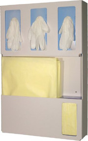 BOWMAN PPE Apparel Dispenser Quartz Beige ABS Plastic Manual Wall Mount LD-007 Case/1