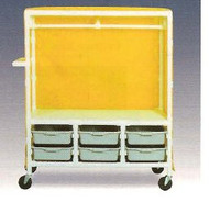 600 Series Garment Cart 3 X 1-1/4 Inch Extra Wide Casters 125 Lb Per Shelf 676S Each/1 - 77123409