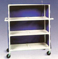 600 Series Linen Cart 5 X 1-1/4 Inch Deluxe Heavy Duty Reinforced Standard 5X Casters 125 Lb Per Shelf 695-24M/ROYALBLUE Each/1