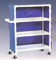 600 Series Linen Cart 3 X 1-1/4 Inch Deluxe Heavy Duty Reinforced Standard Sx Casters 100 Lb Per Shelf 633M/GRAY Each/1