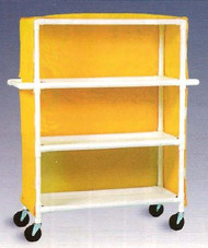 600 series Linen Cart 5 X 1-1/4 Inch Deluxe Heavy Duty Reinforced Standard 5X Casters 125 Lb Per Shelf 665M/WHITE Each/1