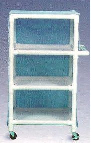 600 Series Linen Cart 3 X 1-1/4 Inch Deluxe Heavy Duty Reinforced Standard Sx Casters 75 Lb Per Shelf 645M Each/1 - 60043409
