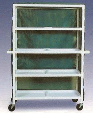 600 Series Linen Cart 5 X 1-1/4 Inch Deluxe Heavy Duty Reinforced Standard 5X Casters 125 Lb Per Shelf 696M/RED Each/1